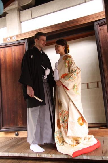 神社 和装婚 国際結婚