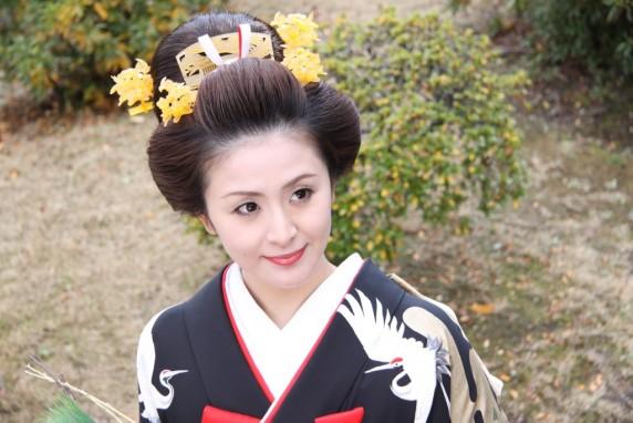 ミス日本 和装  着物 引き振り 和装ヘア 和髪 地毛結い