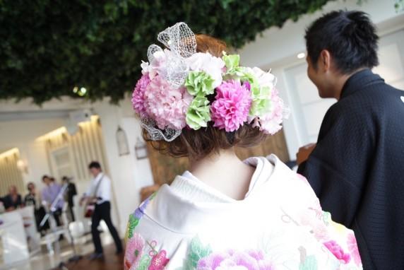 和装 ピンク 着物 キュート 袴 和飾り 色打掛