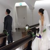 堂島ホテル ヘアメイク アップスタイル ベール 挙式 フローラウェディング