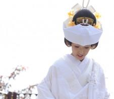 角隠し 神殿式 白無垢 和装婚 袴